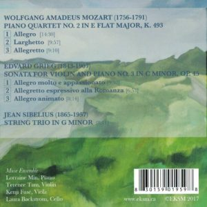 BackCover CD2 Muse Ensemble EKSM Summer Classical Music Festival