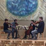 Ariel Quartet warming up at 2018 festival